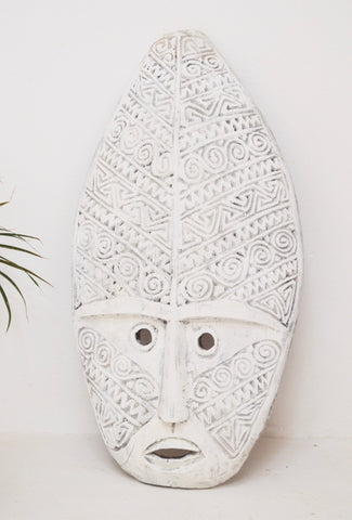Timor Mask Hand-carved Wood Decoration