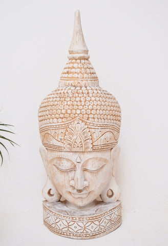 Balinese Buddha Mask Hand carved from Wood