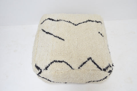 Vintage Beni Ourain Floor Cushion Berber Pillow