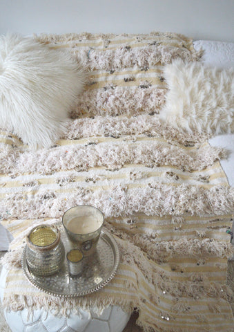 Vintage Moroccan Wedding Blanket