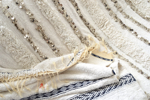 SOLD Vintage Moroccan Wedding Blanket