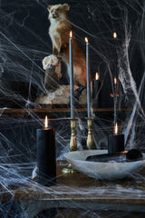 halloween pewter taper candles black pillar candle