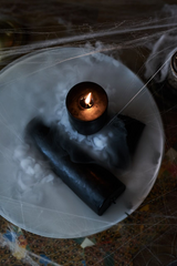 halloween black pillar candles