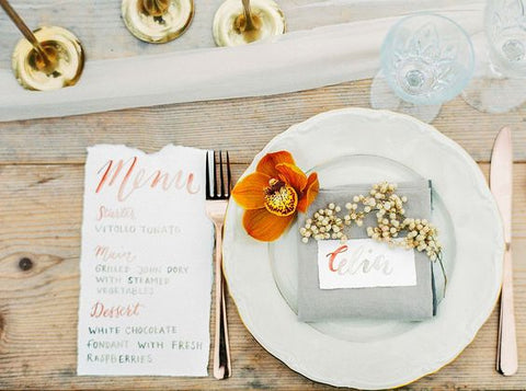 Fall wedding place setting