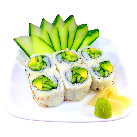 Avocado Cucumber Sushi Roll