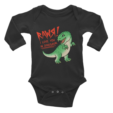 Lil Dinosaur - Infant Long Sleeve Bodysuit