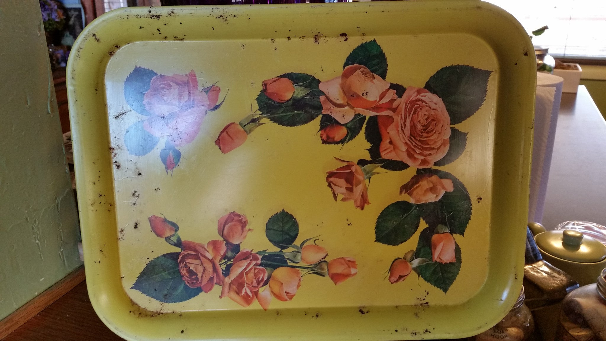 ❤️ YELLOW ROSE TRAY