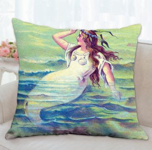 ❤️Mermaid waters over-sized pillow