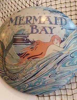 ❤️ MERMAID BAY tin sign