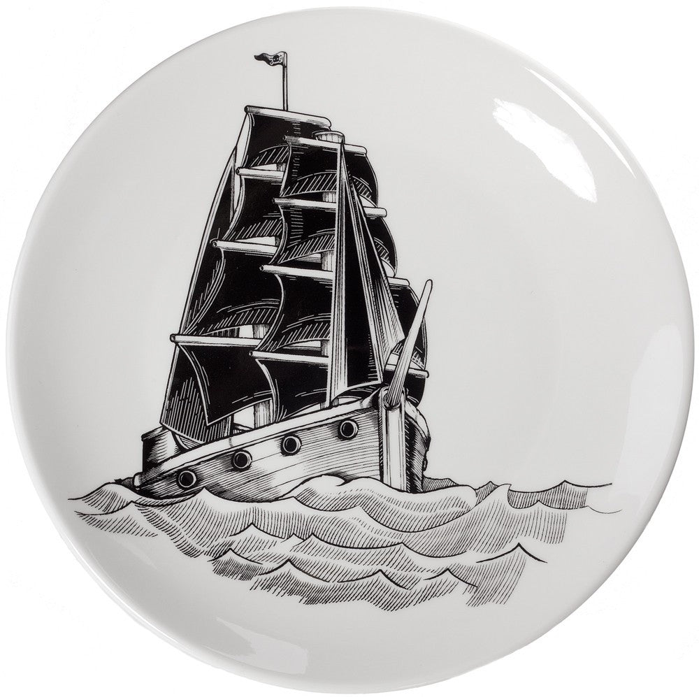 ❤️ NAUTICAL SHIP plate