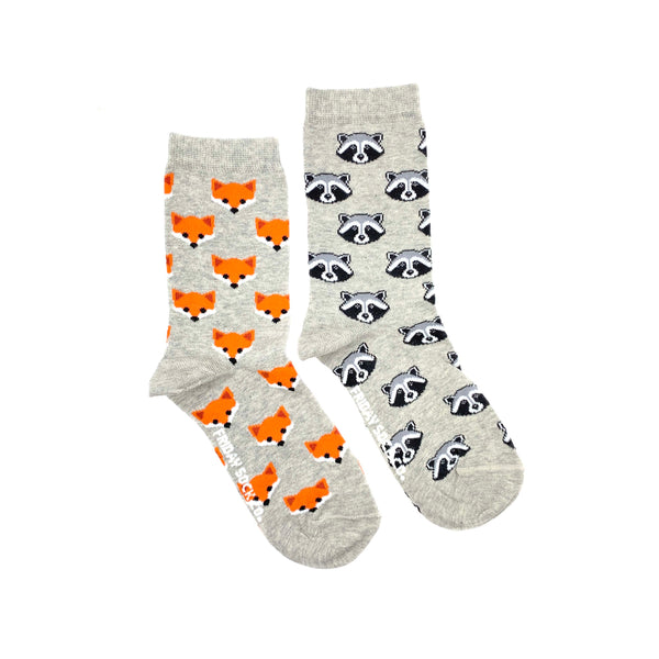 Women's Fox & Raccoon Socks (Crew)