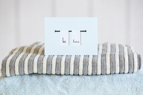 His & Hers Towels