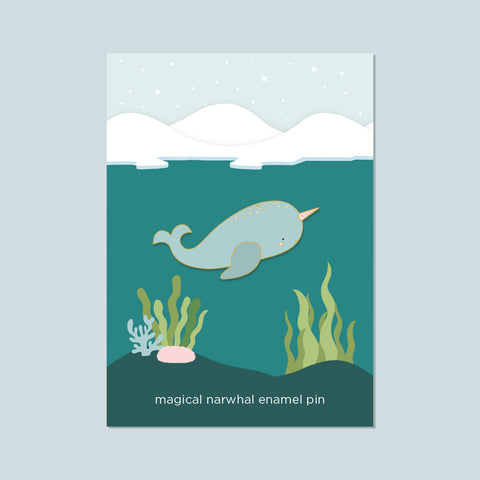 (New) Narwhal Enamel Pin