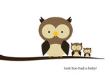 "Owls: Look ""Hoo"" Had a Baby!"
