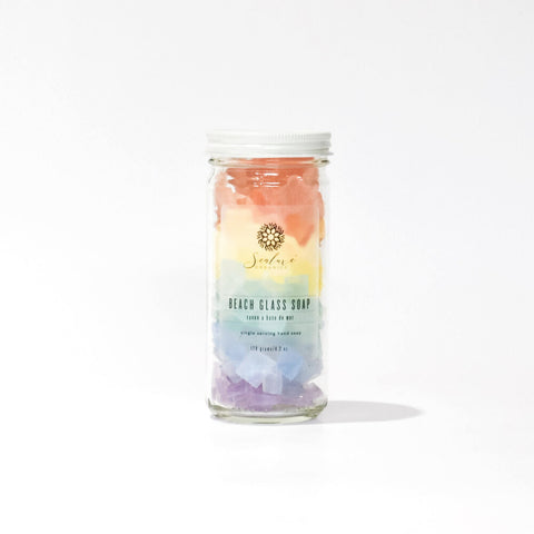 Rainbow Beach Glass Soap