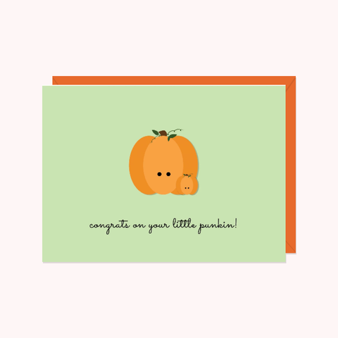 Pumpkins: Congrats On Your Little Punkin!