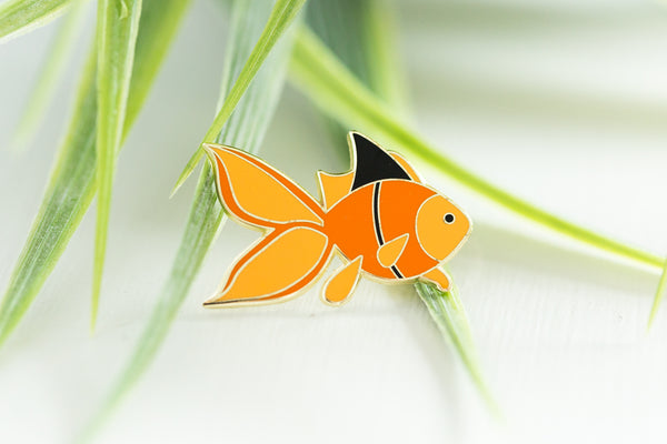 Courageous Little Goldfish Enamel Pin
