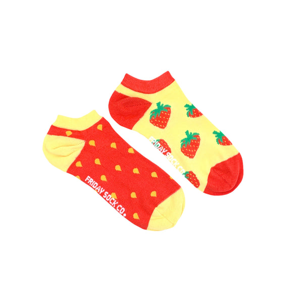Women's Inside Out Strawberry Ankle Socks