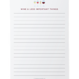 Wine Notepad