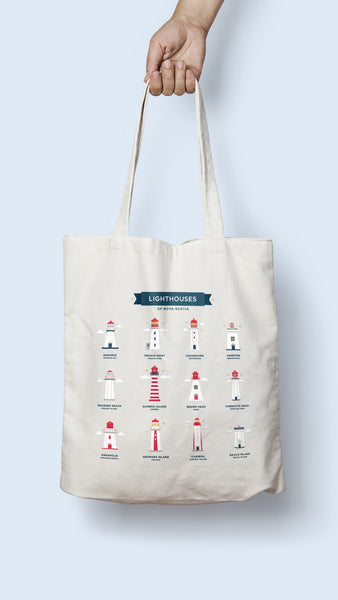 Lighthouses of NS Tote Bag