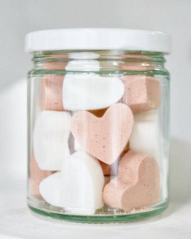Jar of Organic All Natural Mini Bath Bombs