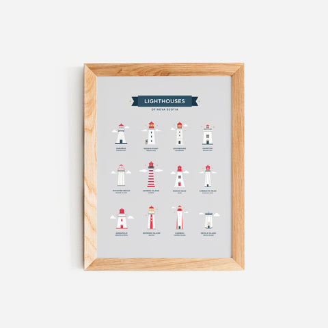 Lighthouses of Nova Scotia Print