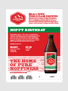 Hoppy Birthday Sell Sheet