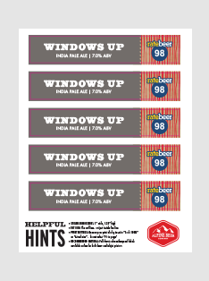 Windows Up Shelf Strips - PRINT