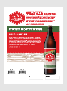 2019 Pure Hoppiness Sell Sheets