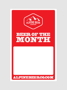 Alpine - 11 x 17 Beer of the Month Poster Template