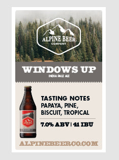 Windows Up Beer Tasting Sign