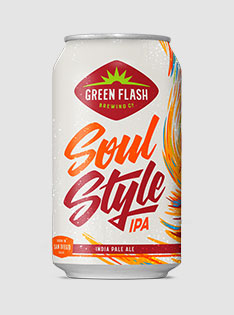 Green Flash - Soul Style 12 oz. Can Product Image - Print