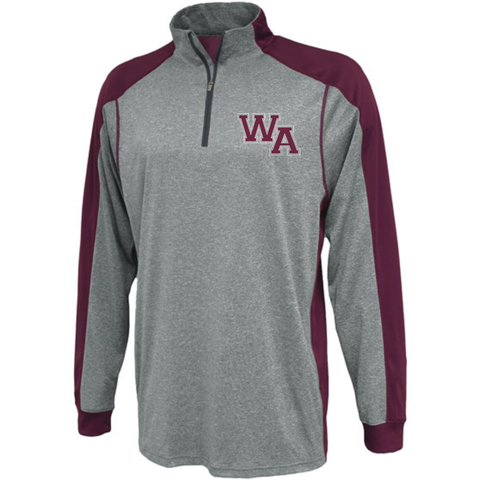 Westford Academy Quarter Zip Heather Pennant 1126