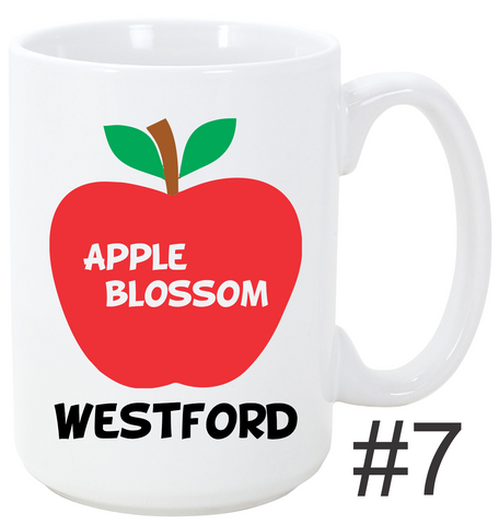 Town of Westford Mug Apple Blossom