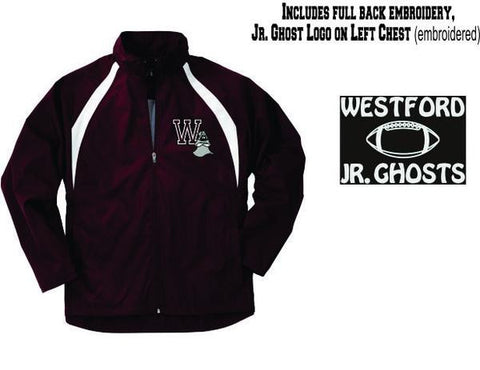 Westford Jr. Ghost Teampro Jacket / Charles River 9958-8958-5958 (Choice of Football or Cheer Back)
