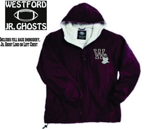 Westford Jr. Ghosts Hooded Performer Jacket / Charles River 9921/8921 (Choice of Football or Cheer Back)