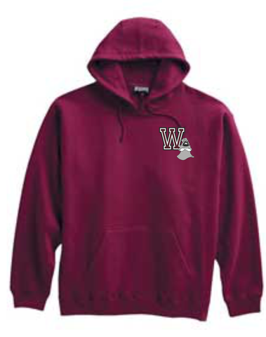 Westford Jr. Ghosts Super 10 Hoodie Maroon/ Pennant 701