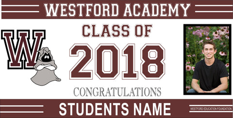 Westford Education Foundation 2' x 4' Graduation Banners