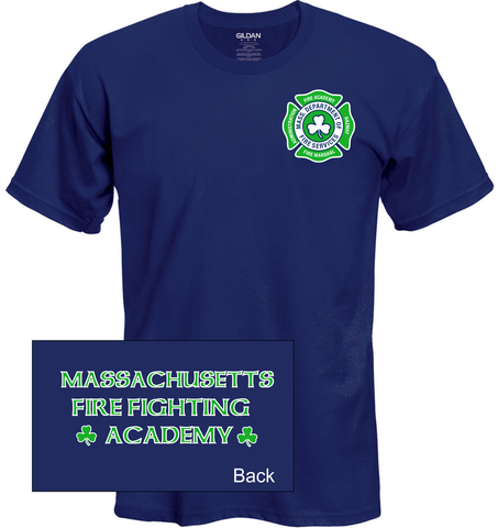 Massachusetts Fire Academy St. Pattys Day Shirt / Gildan G2000