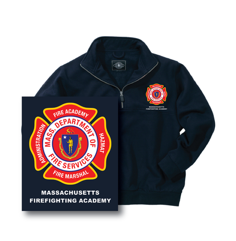 Massachusetts Fire Academy Response Job Shirt Deep Navy / Charles River 9646