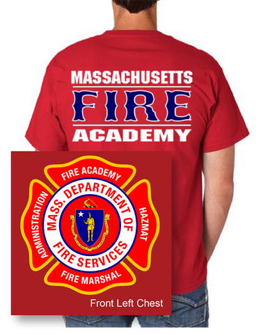 Massachusetts Fire Academy Alternate Red Beefy T-Shirt / Hanes 5180