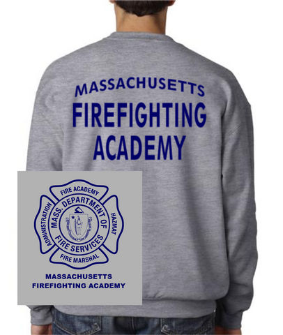 Massachusetts Fire Academy Crew Neck Sweatshirt / Fruit of the Loom 82300