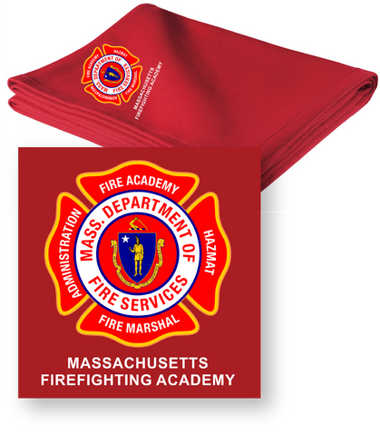 Massachusetts Fire Academy Sweatshirt Blanket / Gildan 12900
