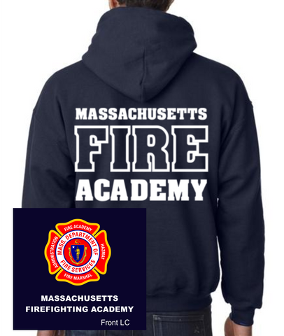Massachusetts Fire Academy Hooded Sweatshirt / Fruit of the Loom 82130