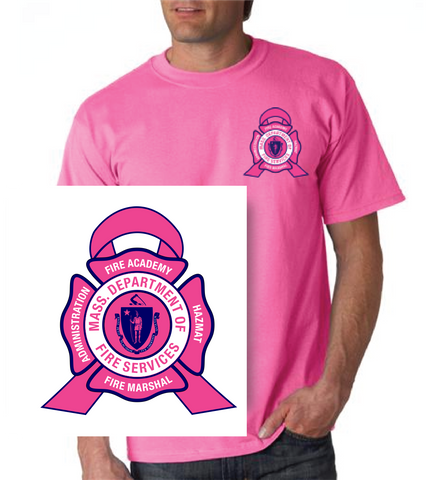 Massachusetts Fire Academy Breast Cancer Awareness T-Shirt / Gildan G2000