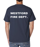 Massachusetts Fire Academy Beefy T with Full Color Department Logo on Left Chest & Department Name on Back / Hanes 5180