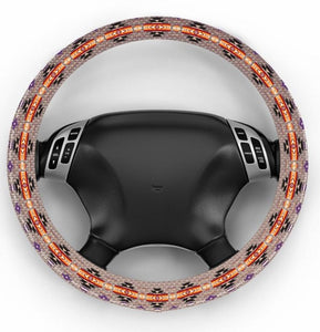Southwest Style Truck Steering Wheel Cover - Tan