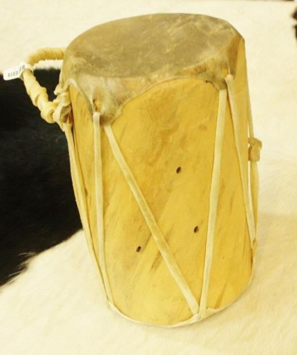 "Log Drum, 9"" Native American"