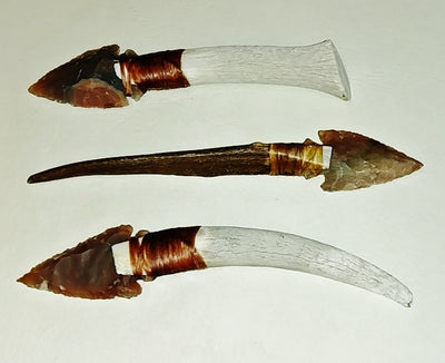 "Antler Handle 1.5""-3.25"" Arrowhead Blade"
