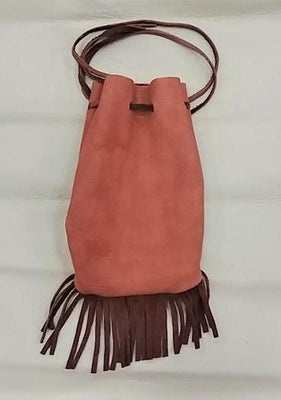 Brown w/fringe Medicine Bag 5.5""